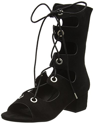 BoohooLace Up - Sandali  donna , Nero (Nero (Black Suede)), 38
