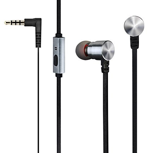 Mpow Wired Earphones, Premium 3.5mm Handsfree In-Ear Corded Earbuds Headphones with Mic, Dual Speakers, Stereo Headphones for iPhone ,iPod , iPad ,Android Smartphones ,Tablets ,MP3 Players