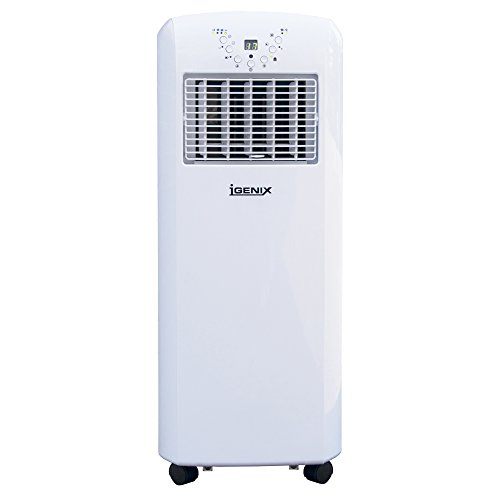 Igenix IG9902 3-in-1 Portable Air Conditioner with Heating Function, 9000 BTU, 1100 W – White