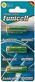 Eunicell 3 x 23A 12V (1 Blistercards a 3 Batterien) Quecksilberfreie Alkaline Batterien MN21, 23A, V23GA, L1028, A23 EINWEG Markenware