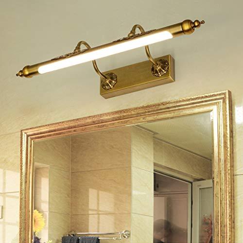 Badezimmer Vanity Leuchten über Spiegel Öl eingerieben Bronze, Spiegelleuchte LED Make-up Wandleuchte Spiegel Licht Frontleuchte,45CM-8W -