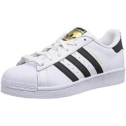 adidas Originals Superstar, Zapatillas Unisex Adulto, Blanco (Ftwr White/Core Black/Ftwr White), 38