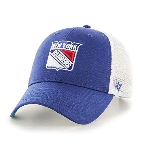 47 brand Gorra NHL New York Rangers MVP Trucker Branson Azul Talla  OSFA  (Talla única 2c7f0500497