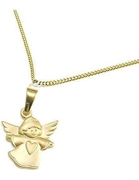 Schmuck Klein Goldener Engel-Anhänger mit Herz 333/- Gold inkl. Wunschgravur Taufgeschenk