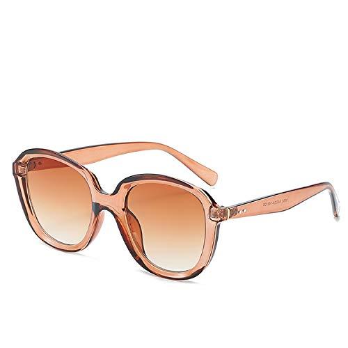 FIRM-CASE Sonnenbrille Runde Vintage Retro Schatten Sun-Glas-Übergroße große schwarze Farbtöne Brillen, 5