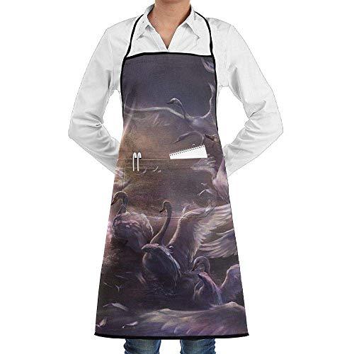 Kostüm Lady Bird - Drempad Premium Unisex Schürzen, Bib Apron with Pockets Beautiful Wonderland Birds Durable Cooking Kitchen Aprons for Men Women