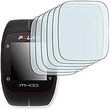 "6 x protectores pantalla Golebo para Polar M400. Lámina protectora adhesiva invisible ""Crystal Clear"". Fabricado en Alemania."