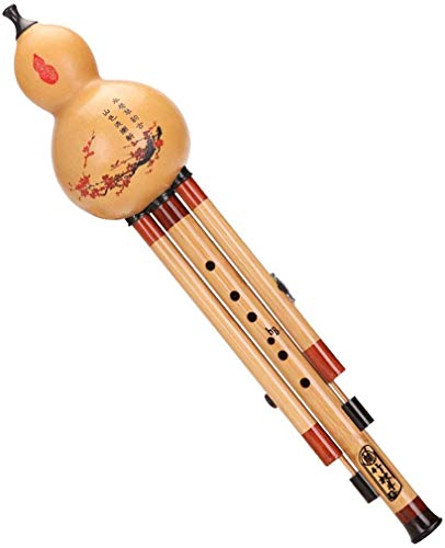 AZWE Cucurbit Flutes Dj Instruments Bambussaxophone Hulusi Sandelholz Bambus Hulusi Dreifarbige abnehmbare Hulusi Traditionelles handgemachtes Instrument Hulusi Flöte Holzbläser Blockflöten,C