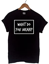 WHAT DO YOU MEAN? ~ JUSTIN BIEBER ~ UNISEX T SHIRT S-XXL