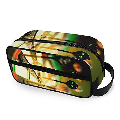 FAJRO Kosmetiktasche mit Dartscheibe, bedruckt, multifunktional, tragbar, Kosmetiktasche, Make-up-Tasche für Reisen