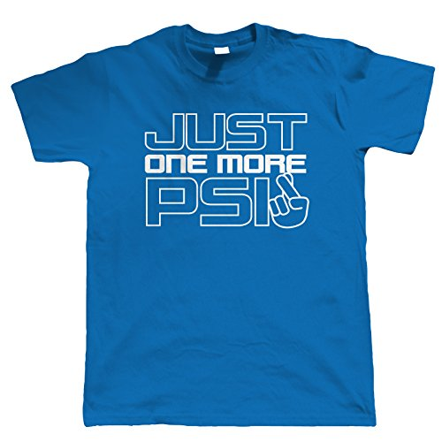 Vectorbomb, Just One More PSi Auto T-Shirt (S zu 5XL) Blau