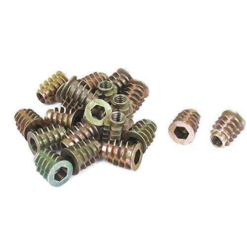 sourcingmapr-m6-x-15-mm-esagono-incassato-vite-in-filo-inserto-dado-20-pezzi-per-legno