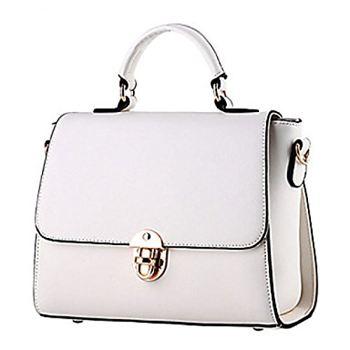Dfucf Ladies Pu Bureau Messenger Bag Mode Casual Sac Durable Beige Durable