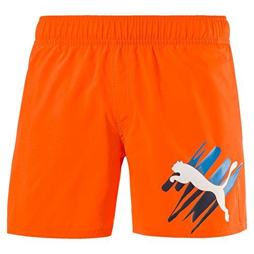 Puma Herren Style Summer Big Cat Shorts Vibrant Orange
