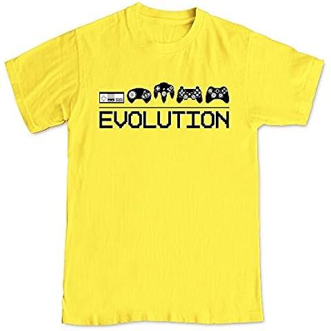 Evolución de videojuegos Control almohadillas juego de vídeo Humor camiseta