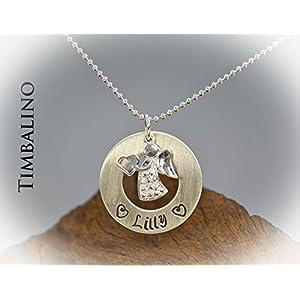 Schutzengel Donutring Silber mit Namensgravur