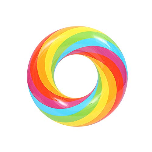 YHYZ Schwimmringe Kinder Dicke aufblasbare Blasen unter der Schwimmbeckenausrüstung für Männer und Frauen, Regenbogenkreis 70
