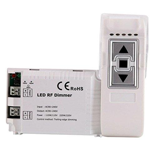 Sharplace Gradateur de Lampe LED Sans Fil avec Télécommande en ABS Adaptateur Contrôleur de Bande de LED