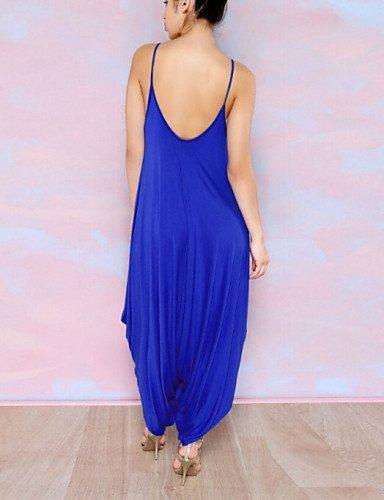 GSP-Combinaisons Aux femmes Sans Manches Plage / Décontracté / Grandes Tailles Coton Fin Micro-élastique blue-s