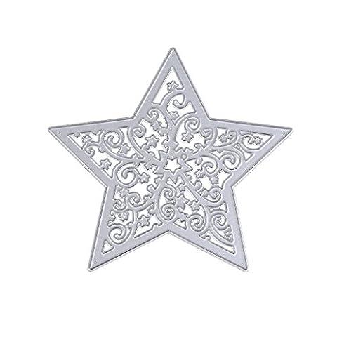 Dairyshop Flocon de neige étoile de coupe Dies timbres gaufrage Pochoir pour le scrapbooking DIY Artisanat