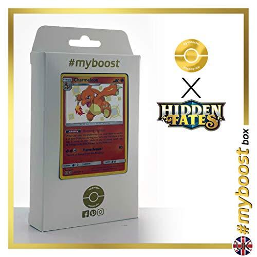 Charmeleon (Glutexo) SV7/SV94 Shillernd - #myboost X Sun & Moon 11.5 Hidden Fates - Box mit 10 Englische Pokémon-karten