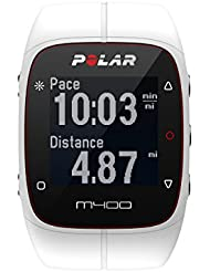 Polar M400 GPS Heart Rate Monitor Watch, Color- White