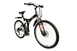 """ECOSMO Ecosmo 26"""" Folding Mountain Bicycle Bike 21SP SHIMANO-26SF02BL+Carry Bag from ECOSMO"""