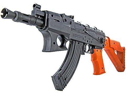 Soft-Air Sturm-Gewehr 44cm Federdruck ABS bis 0.5 Joule Kaliber 6mm Munition Magazin Air-Soft Spielzeug-Gewehr Kinder-Spielzeug ab 14 Jahren 47 Softair-Waffe Softair-Gewehr