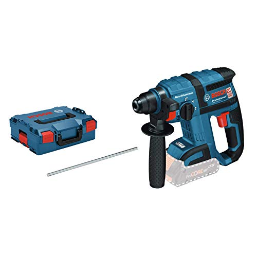 Bosch Professional 18V System Akku Bohrhammer GBH 18 V-EC (SDS Plus, Schlagenergie: 1,7 Joule, Bohr-Ø max.: Beton/Stahl/Holz 18/13/20 mm, ohne Akkus und Ladegerät, in L-Boxx)