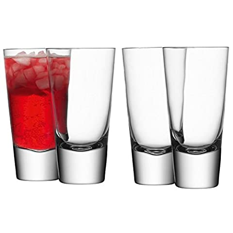 LSA International 315 ml Bar Long Mixer Glass, Clear (Pack of 4)