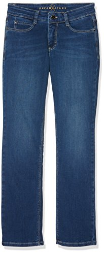 MAC JEANS Damen Dream Straight Jeans, Blau D569, 32 / L30 -