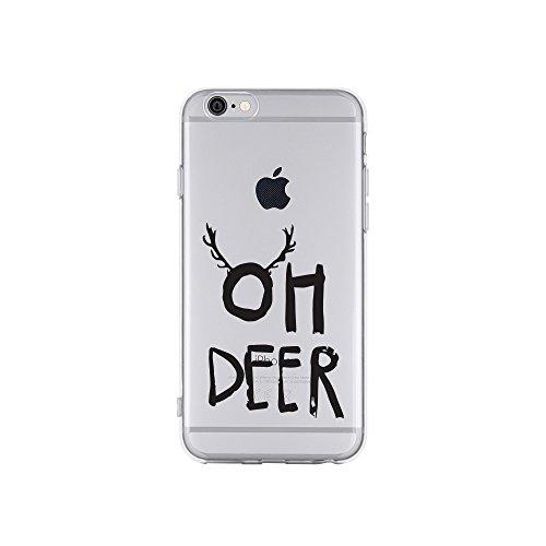 licaso Apple iPhone 6 Handyhülle Smartphone Apple Case aus TPU mit Oh Deer Print Motiv Slim Design Transparent Cover Schutz Hülle Protector Soft Aufdruck Lustig Funny Druck