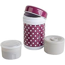 Nuvita 1476 - Termo con 2 compartimentos de comida (capacidad: 750 ml), color violeta