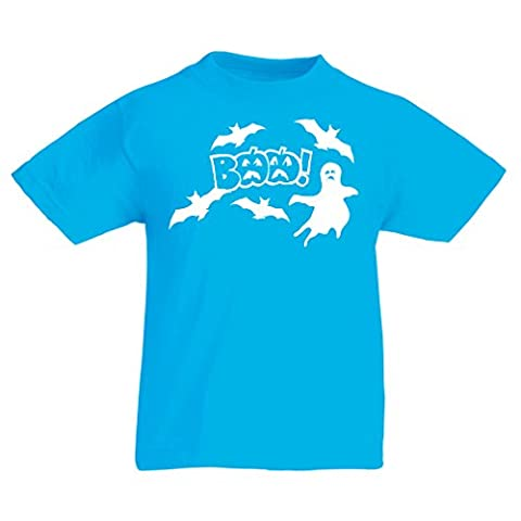 T shirts for kids BAAA! - Funny Halloween Costume ideas, cool party outfits (5-6 years Light Blue Multi
