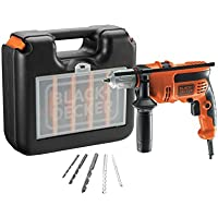 Black+Decker CD714CRESKA-QS - Taladro percutor con cable de 710W