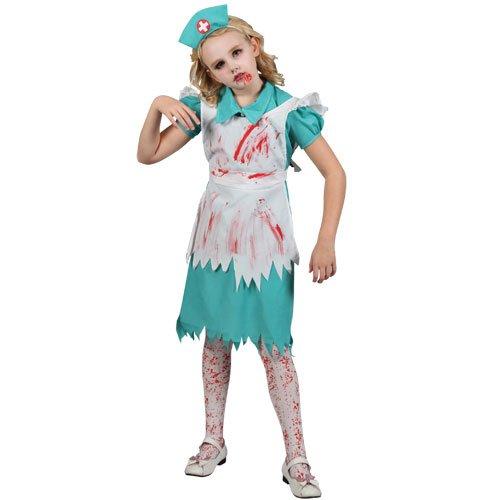 Kostüm Zombie-Krankenschwester für Mädchen/Kinder, Größe M, (Krankenschwester Kostüme Wicked)