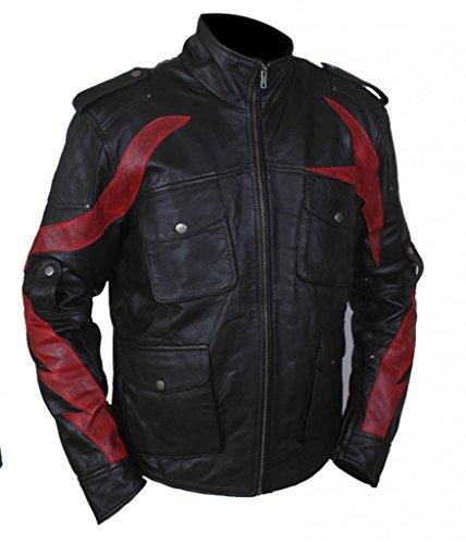 F&H Men's Prototype 2 James Heller Alex Mercer Genuine Leather Jacket Black
