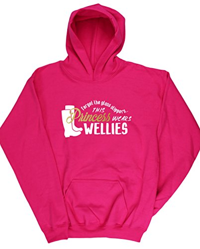 hippowarehouse-forget-the-glass-slippers-this-princess-wears-wellies-kids-unisex-hoodie-hooded-top