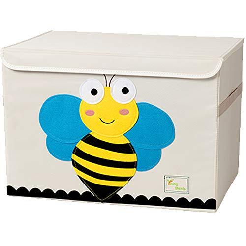 Tsingle contenitore per giocattoli misura grande cassapanca per bambini con coperchio contenitore per giocattoli pieghevole e robusto scatola organizer, portagiochi (bee)