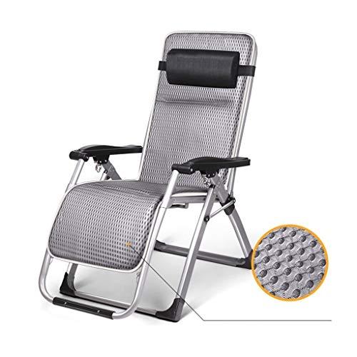 YUER Klappstühle im Freien Schwerkraft Sonnenliege, Garten Terrasse Sonnenliegen, Liege LiegestuhlSingle Büro Nickerchen Bett Mittagspause Stuhl faul Rückenlehne Stuhl (Color : A)