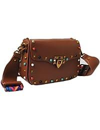 Tribalzone Gemfield Studded Flap Designer Sling Bag For Women And Girls