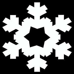 Eiskristall Wandtattoo Motiv 1 in 5 Größen und 19 Farben (10x10cm weiß)