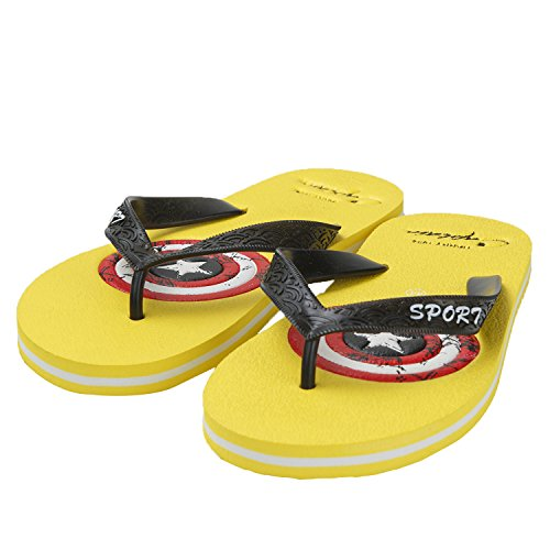 Oasap Herren Sommer EVA Strand Zehentrenner Yellow