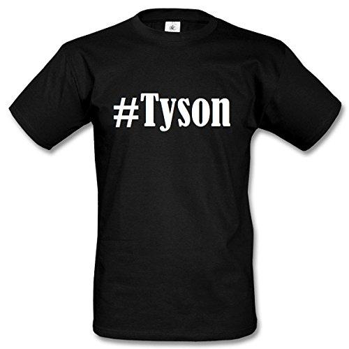 T-Shirt #Tyson Hashtag Raute für Damen Herren und Kinder ... in den Farben Schwarz und Weiss Schwarz