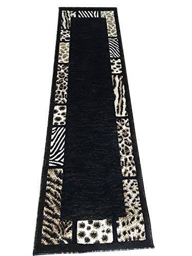 Skinz TIERFELL Print Fußmatte Teppich Leopard/Tiger Schwarz Design # 70(2ftx3ft. 4Zoll.) 2 Feet X 7 Feet Black #73 -