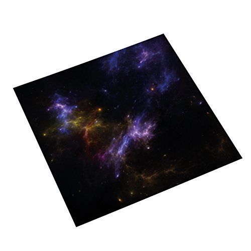 Spielmatte Galaxy by Nebula | Fantasy Adventure Spielzeug Weltall Kampf Strategiespiel Science Fiction Weltraumspiele Star Wars Spielwaren | X-Wing, Star Wars Armada, Attack Wing | Tabletop Spiele | 92 x 92cm (3' x 3') Universum Motiv
