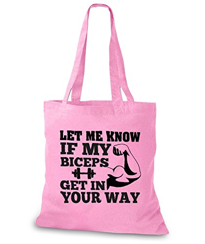 my Rosa know Tasche Let your if Way in get me StyloBags Biceps Jutebeutel IqYnwf7FTx