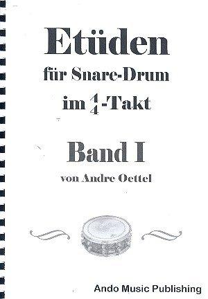 Etüden für Snare Drum im 4/4-Takt Band 1