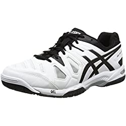 ASICS Gel-Game 5, Zapatillas de Tenis para Hombre, Blanco (White/Black/Silver 0190) 43.5 EU