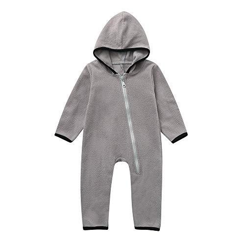 Bunting Onesie Jacke - Kinder Pyjamas Winter Oberbekleidung Mantel Kostüm (Gray, 0-3 Months) ()